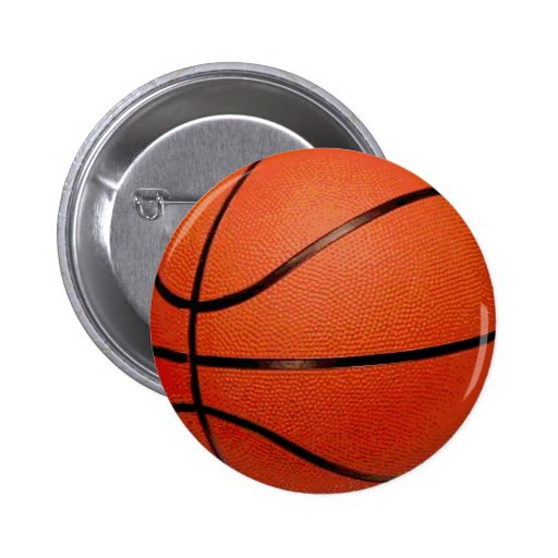 Basketball Ball 2 Inch Round Button
