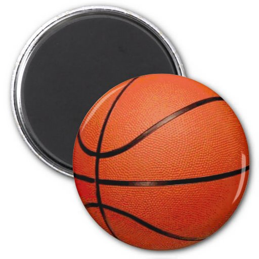 Basketball Ball 2 Inch Round Magnet