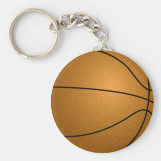basketball ball basic round button keychain