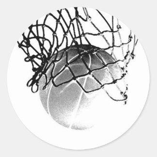 Basketball Ball Classic Round Sticker
