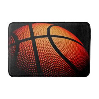 Basketball Ball Close Up Skin Texture Pattern Bathroom Mat