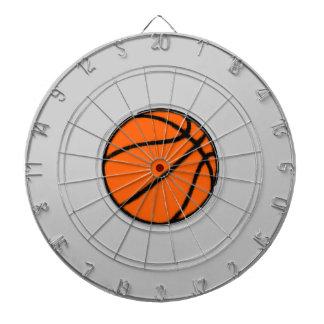 basketball (ball) dartboard with darts