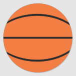 Basketball ball icon round stickers