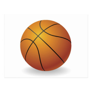 Basketball ball illustration postcard