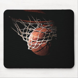 Basketball Ball in Action Mousepads