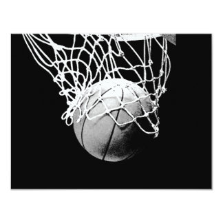 "Basketball Ball Invites 4.25"" X 5.5"" Invitation Card"