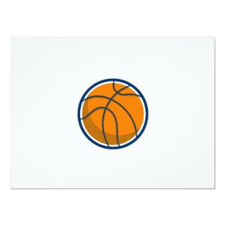 Basketball Ball Isolated Retro Card
