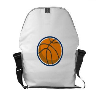 Basketball Ball Isolated Retro Courier Bag