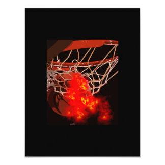 Basketball Ball & Net Invitations
