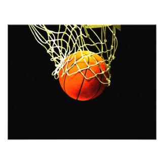 Basketball Ball Net Invitations
