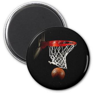 Basketball Ball & Net Fridge Magnets