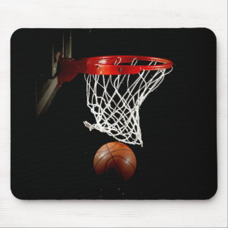 Basketball Ball & Net Mouse Pad