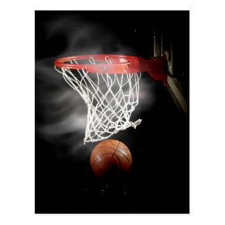 Basketball Ball & Net Postcard