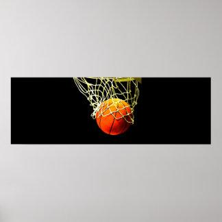 Basketball Ball & Net Print Poster