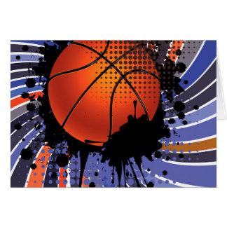Basketball Ball on Rays Background 2 Card
