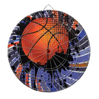 Basketball Ball on Rays Background 2 Dartboard With Darts