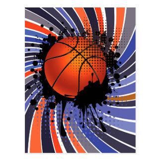 Basketball Ball on Rays Background 2 Postcard