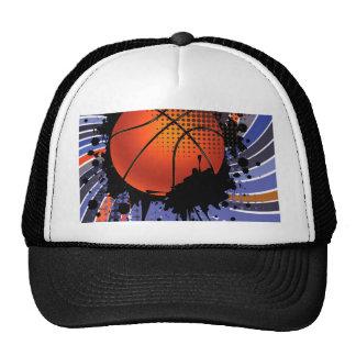 Basketball Ball on Rays Background 2 Trucker Hat
