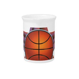 Basketball Ball on Rays Background 3 Pitcher