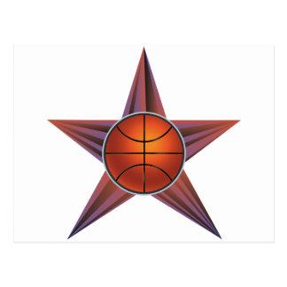 Basketball Ball on Rays Background 3 Postcard