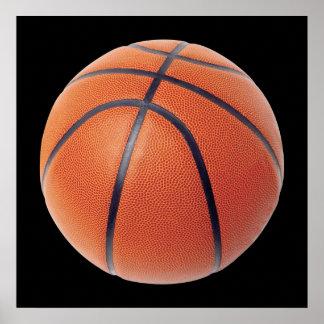 Basketball Ball Orange and Black Poster