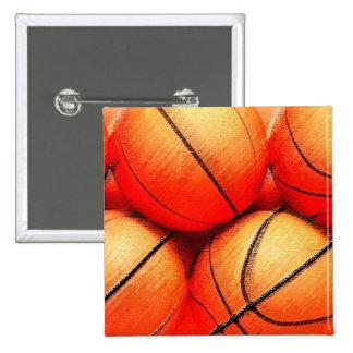Basketball Ball Pinback Button