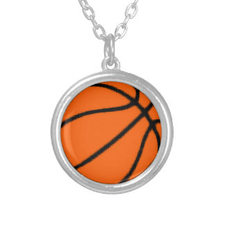 basketball (ball) silver plated necklace