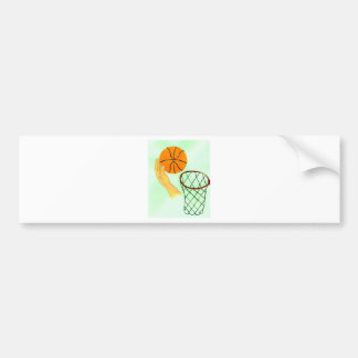 Basketball Ball Sketch Bumper Sticker
