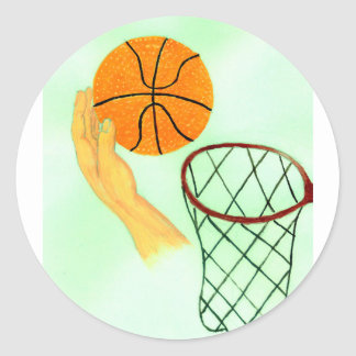 Basketball Ball Sketch Classic Round Sticker