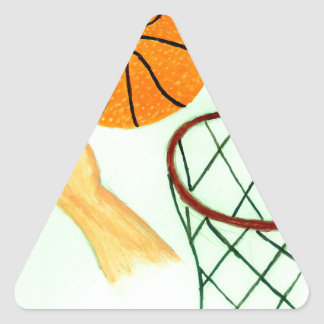 Basketball Ball Sketch Triangle Sticker