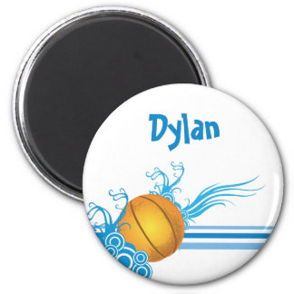 Basketball Ball Sports Game Personalized Name Magnet