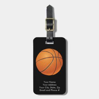Basketball Ball, Team Sport Bag Tag