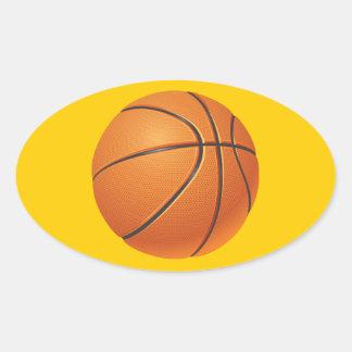 Basketball Ball, Team Sport Oval Sticker