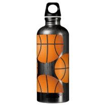 basketball balls aluminum water bottle