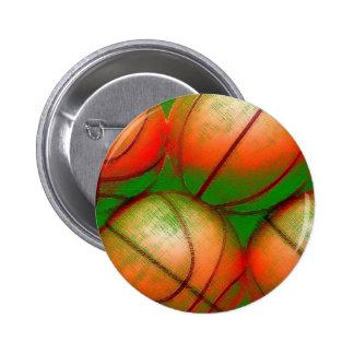 Basketball Balls Pinback Button