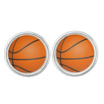 Basketball Balls Sports pattern Cufflinks