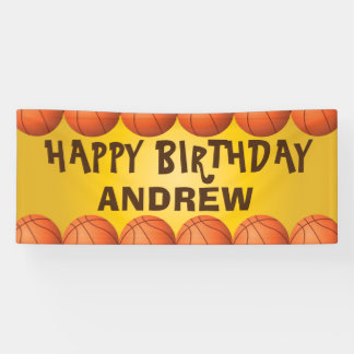 Basketball banner for birthday or any occasion