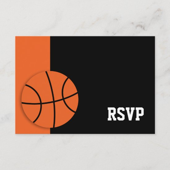 Basketball Bar Mitzvah RSVP