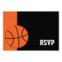 Basketball Bar Mitzvah RSVP Card