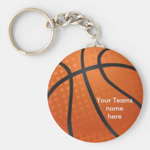 Basketball Basic Round Button Keychain