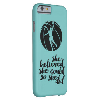 Basketball Basket Ball Girly Teen Girl Coach Barely There iPhone 6 Case