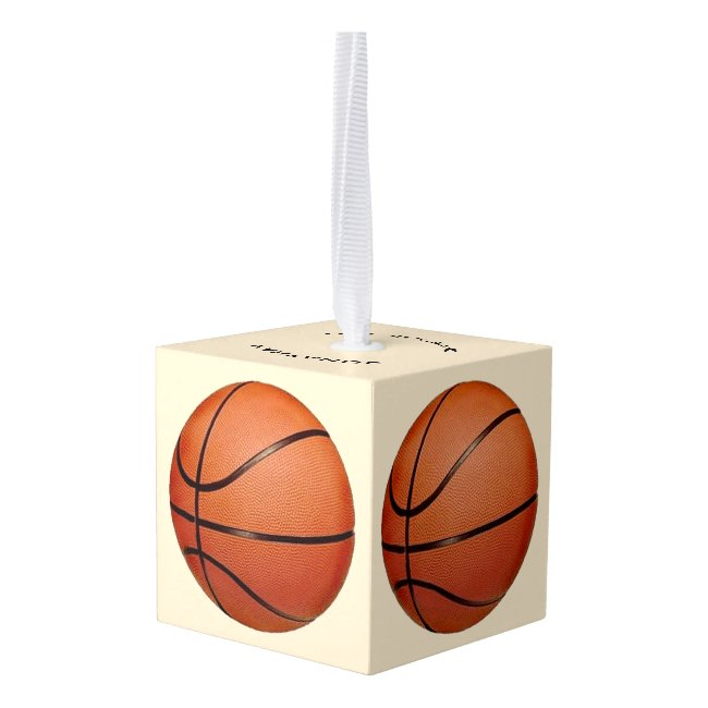 Basketball Basketballs Design Cube Ornament