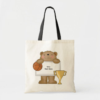 Basketball Bear Bulletin (customizable) Tote Bag