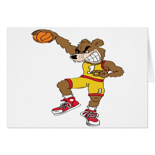 Basketball-Bear Card