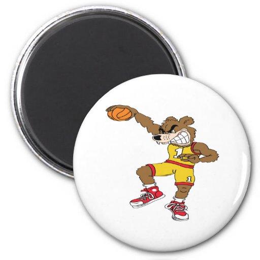 Basketball-Bear Magnets