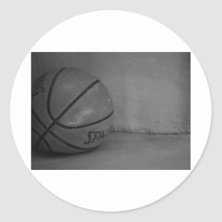 Basketball Beauty Classic Round Sticker