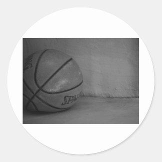 Basketball Beauty Classic Round Sticker
