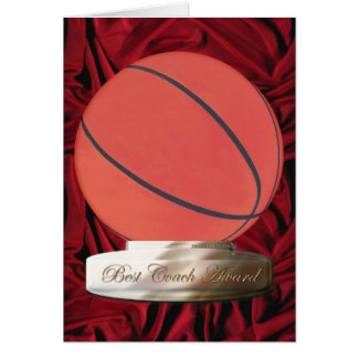 Basketball Best Coach Award Card