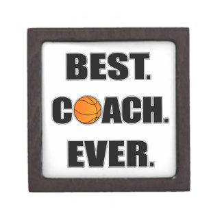 Basketball Best Coach Ever Keepsake Box