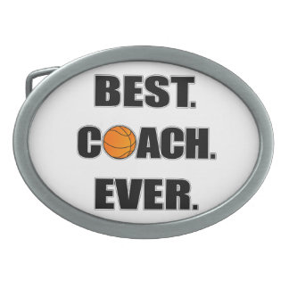 Basketball Best Coach Ever Oval Belt Buckle